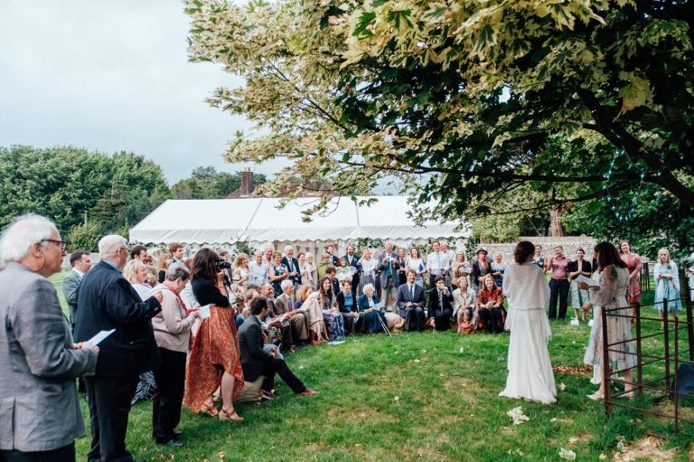 village hall wedding handfasting