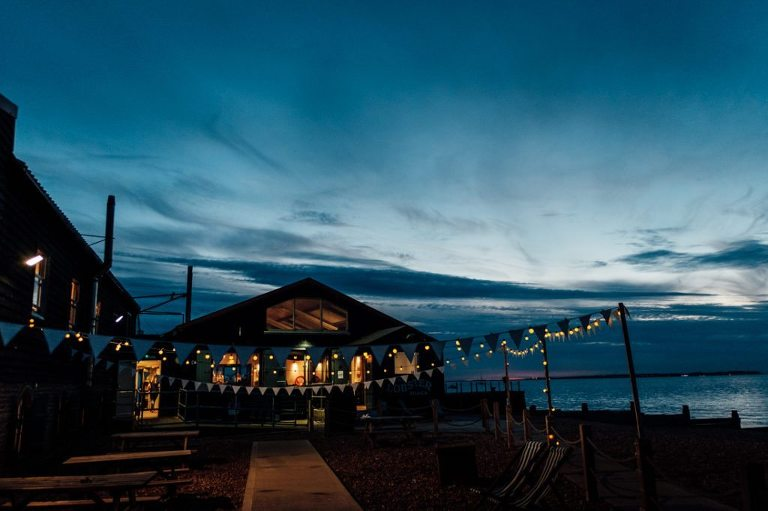 east quay whitstable wedding kent just after sunset twilight