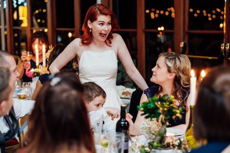 how to plan a winter wedding bride with twinkly lights