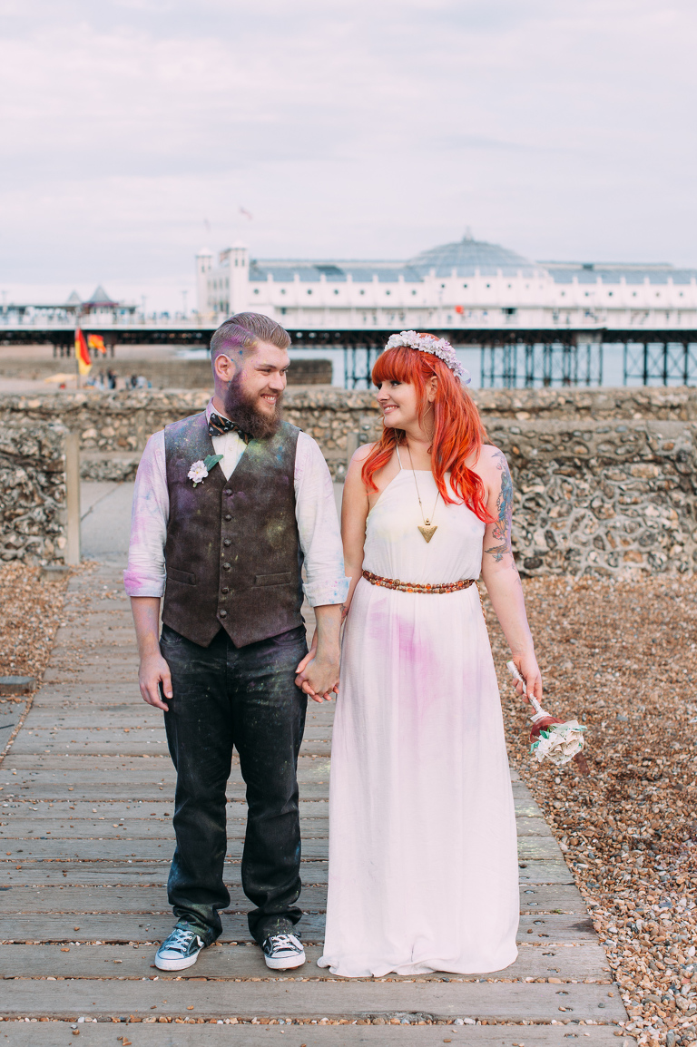 brighton wedding couple